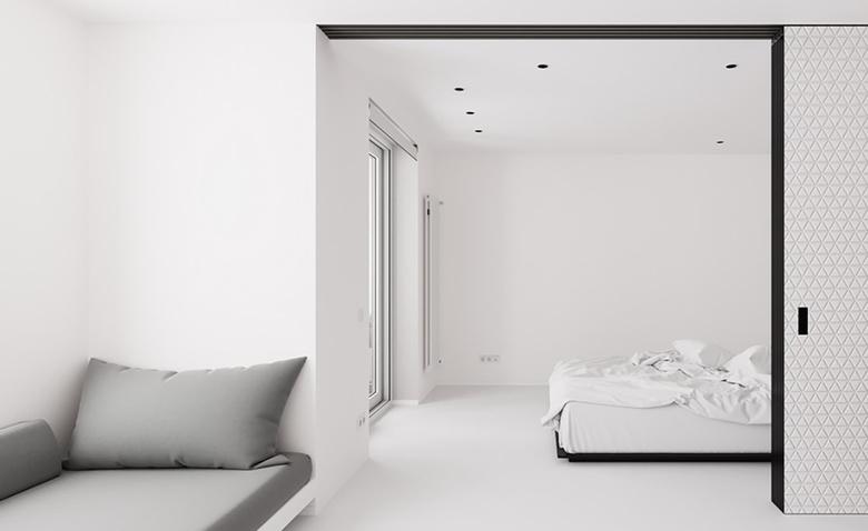Минималистская квартира в белом цвете