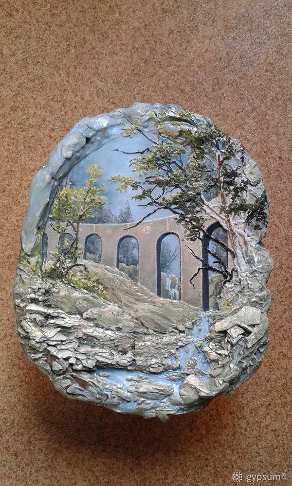 Учимся делать барельеф: пейзаж с акведуком