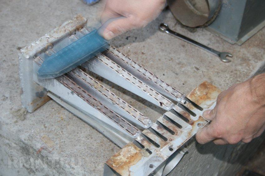 Чистка горелок газовой плиты