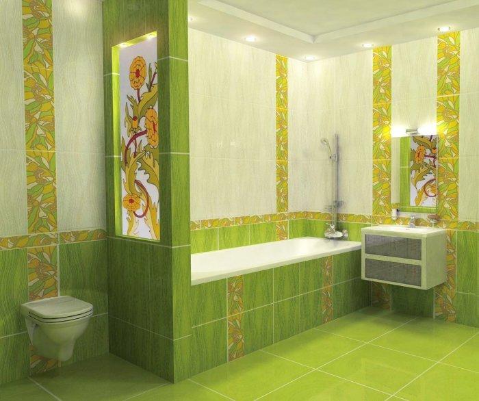 Дизайнеры настоятельно рекомендуют разграничить с помощью перегородки для ванны зону душевую и зону биде.