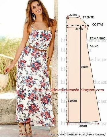 Выкройки летних платьев 1 (373x480, 166Kb)