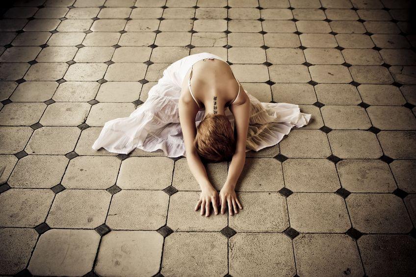 Женщина  терпит побои от муж…