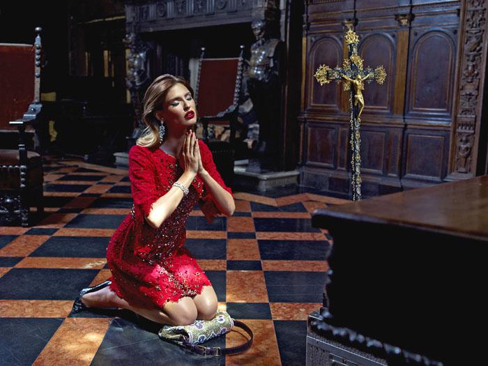 Бьянка Балти (Bianca Balti) в фотосессии Пьерпаоло Феррари (Pierpaolo Ferrari) для журнала Tatler Russia (сентябрь 2013), фото 6