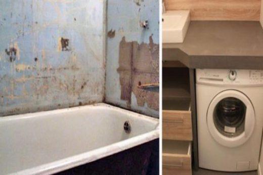 Как вписать стиральную машинку в крохотную ванную комнату… И дизайнера приглашать не пришлось!