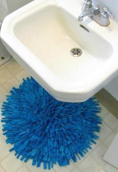 Фото коврики своими руками в ванную комнату в