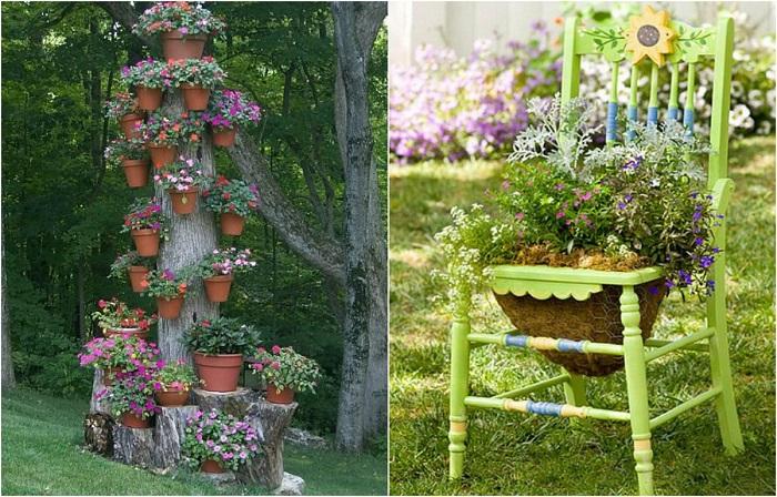 Как бесподобно оформить свой участок, используя ненужные деревянные доски и поленья
