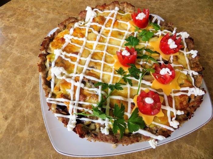Закусочный торт с мясом и картошкой! Еда, Закуска, Приготовление, Другая кухня, Рецепт, Видео рецепт, Видео, Длиннопост