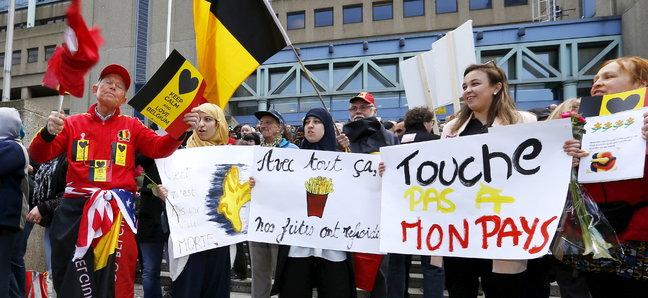 в Брюсселе три тысячи человек открыли «Марш против террора и ненависти»