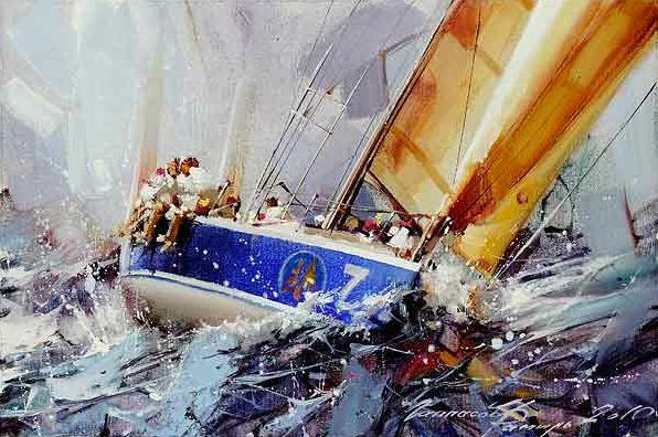 Свежий ветер в парусах...серия картин «Регата» работы Рамиля Гаппасова