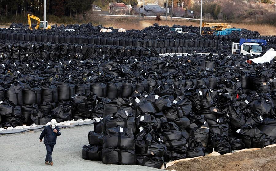 В Японии мешки с отходами от…