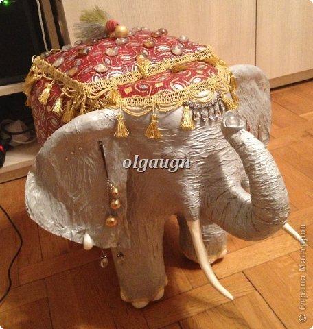 Слон из папье-маше своими руками мастер класс фото