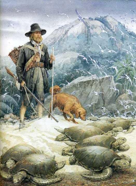Н. С. Уайт, иллюстрации к «Робинзону Крузо»