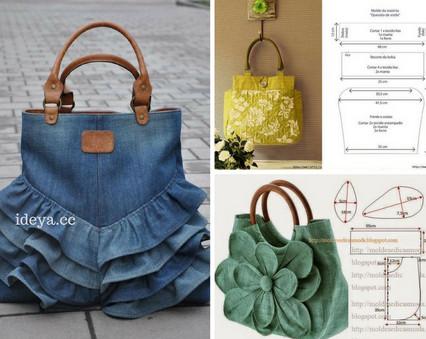 Замечательная подборка сумок из ткани + схема…