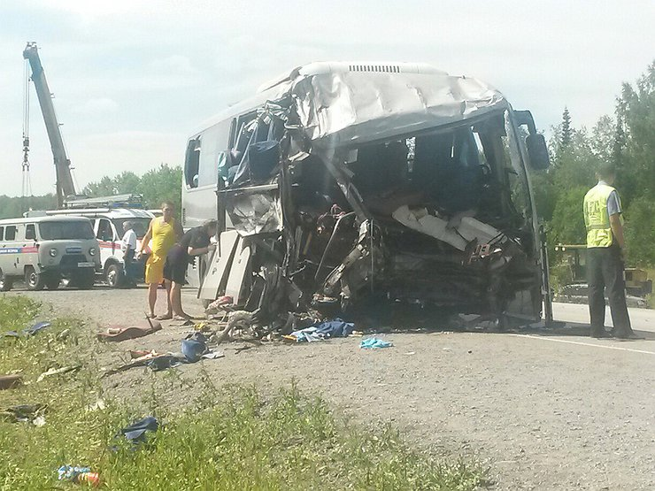 ДТП с автобусом: кровь износа