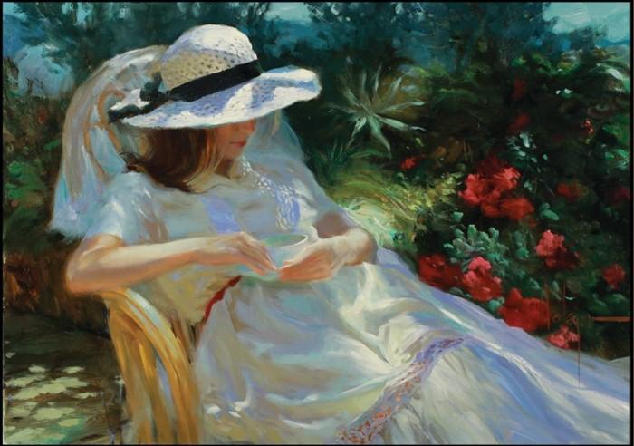 Девочка, девушка, женщина... Подборка картин Владимира Волегова