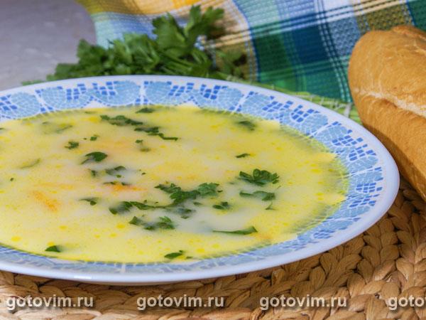 Сырный суп с кабачками. Фотография рецепта