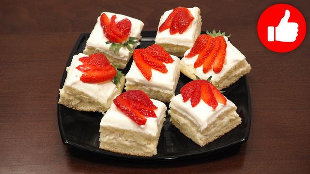 Фото к рецепту: Бисквитное пирожное