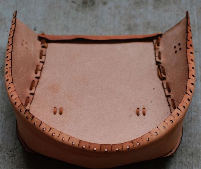 Как сшить сумку из натуральной кожи. Фото мастер-класс и шаблон