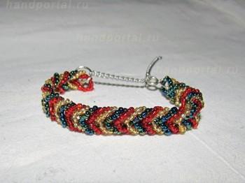Простые браслеты из бисера с фото