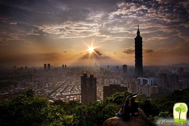 Гигантский небоскреб Тайбэй 101 в Тайване - 2