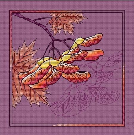 Вышивка «Клён»