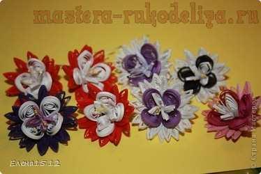 Мастер-класс по квиллингу: Вогнутый цветок