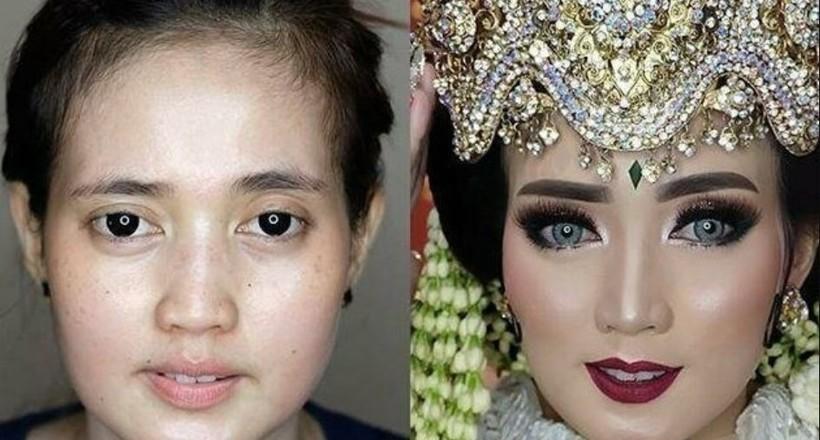 Картинки по запроÑу Совершенно разные люди: 21 фото о том, как макиÑж менÑет азиатÑких невеÑÑ'
