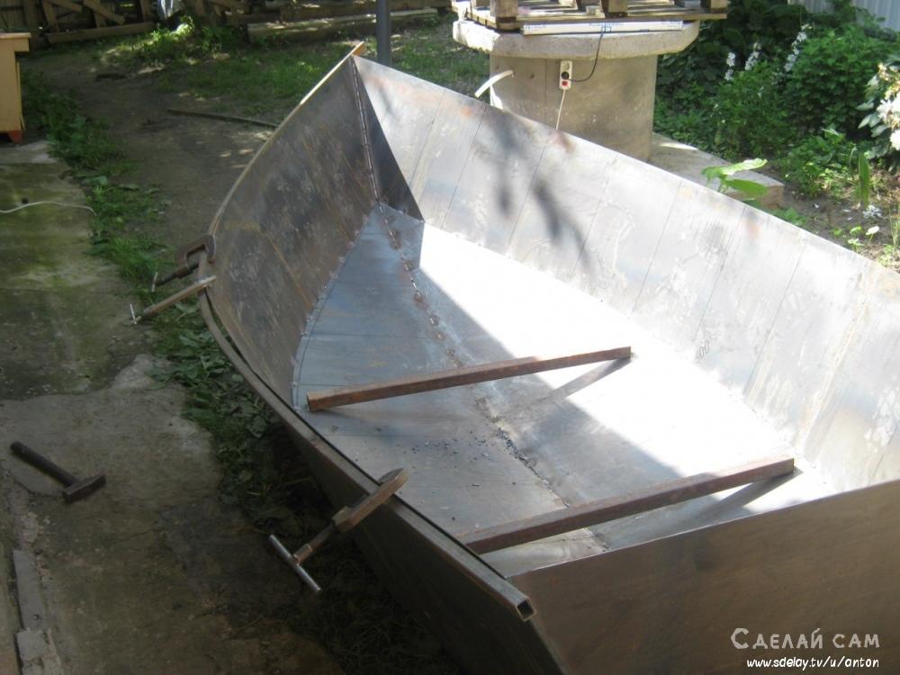 как сделать металлическую лодку своими руками