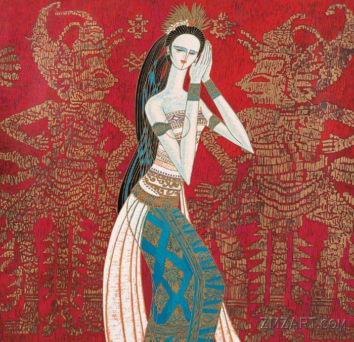 Девушка павлин (Тайская девушка) (700x678, 659Kb)