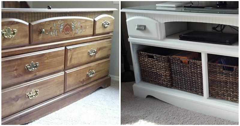Посмотрите, как эта семья переделала бабушкин комод в новую и оригинальную мебель для дома
