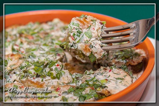 Кабачки в йогуртном соусе — совершенно замечательное на вкус