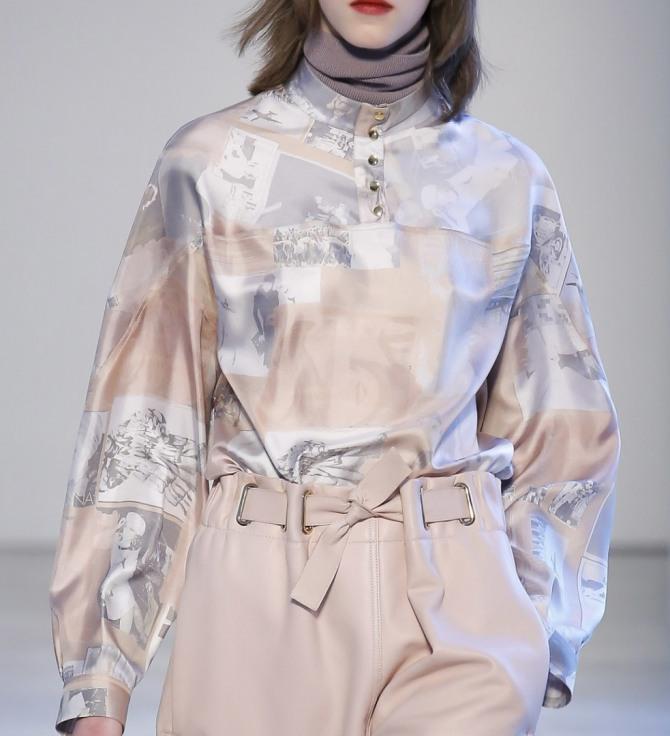 шелковая блузка с фотопринтом