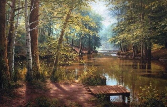 Белорусский художник пишет пейзажи родной природы, которые скупают ценители живописи со всего мира