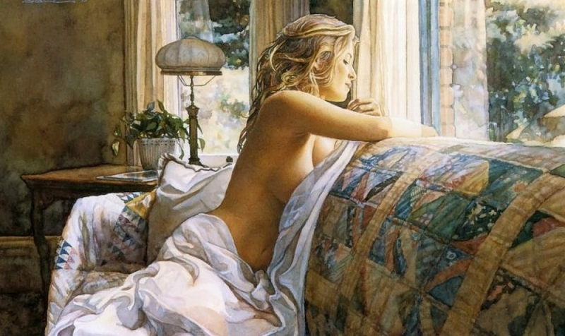 Красота женского тела в 24 нежнейших картинах современных художников.