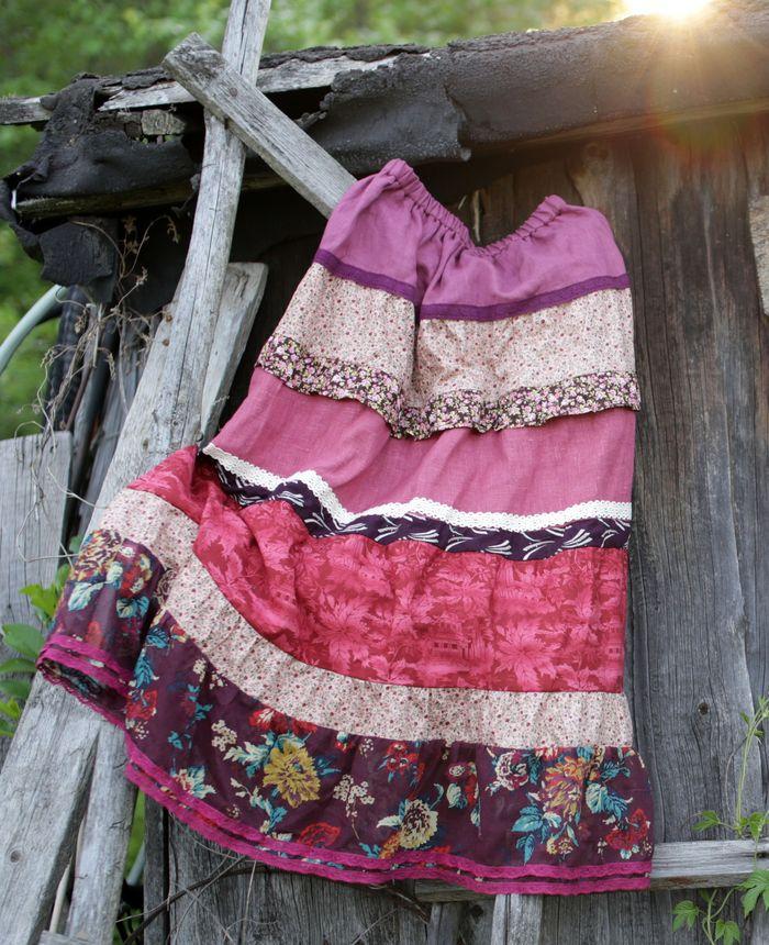 Летние юбки в стиле бохо