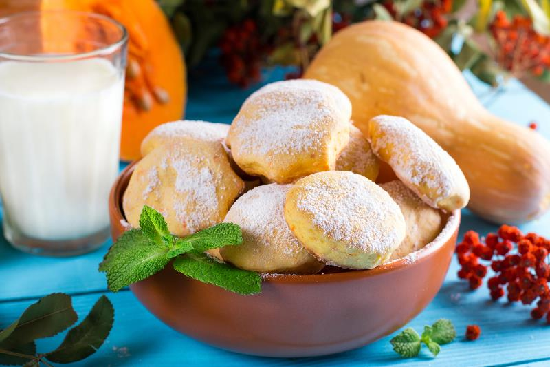 Рецепт овсяного печенья с тыквой