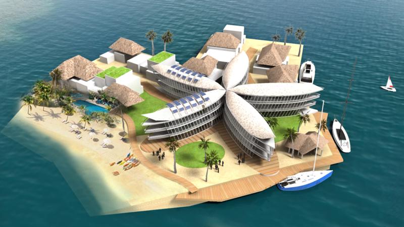 Плавучий остров будущее, дом, прогноз