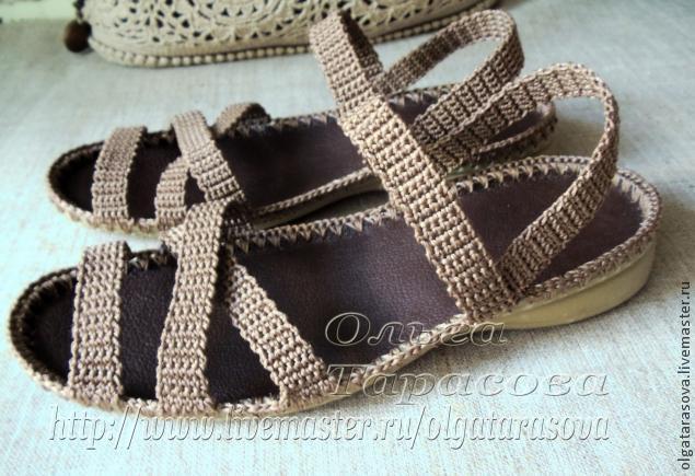 Вязаные сандалии, или Обувь из ничего
