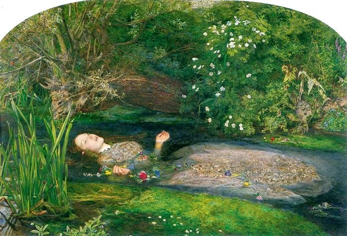 Джон Эверетт Милле. Офелия, 1852