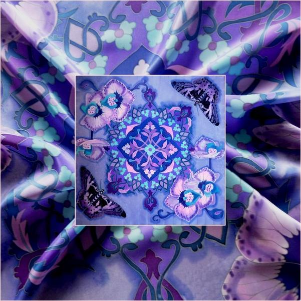 Ультрафиолетовый Восток. (платок) Батик