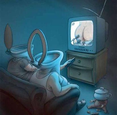 Просто выкинуть телевизор............