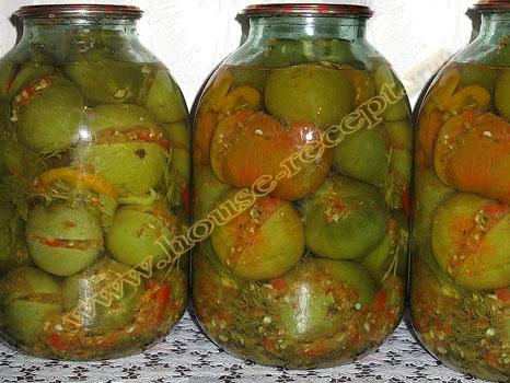 Рецепты консерваций из зеленых помидор