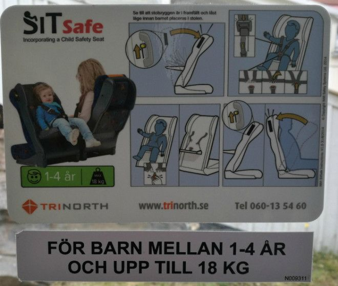 Детское кресло в автобусе Фото Reddit