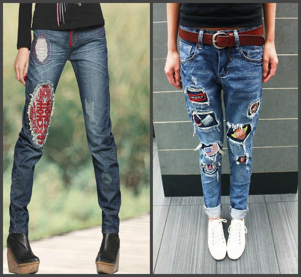 Идеи декора любимых джинсов