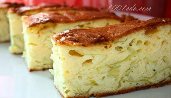 Ленивый пирог из молодой капусты