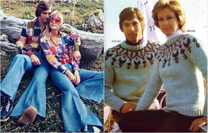 Романтика 1970-х: Какой была парная ретро-одежда для влюблённых