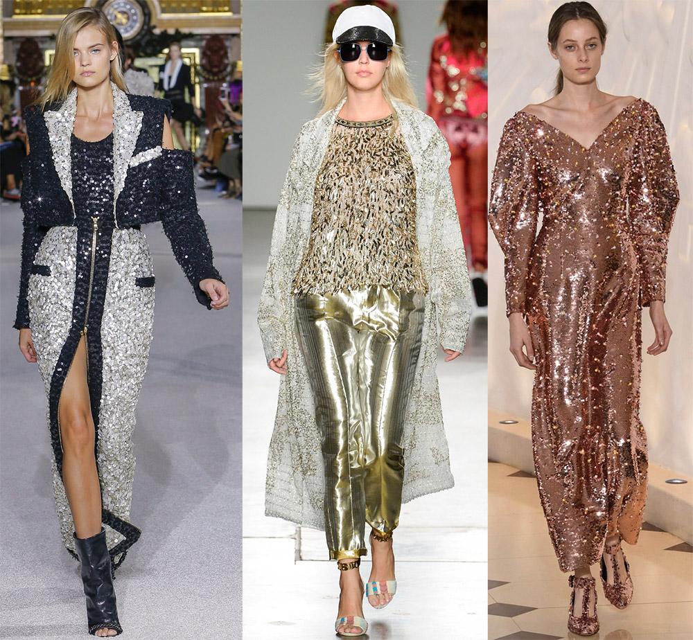 Пайетки в модных коллекциях 2018