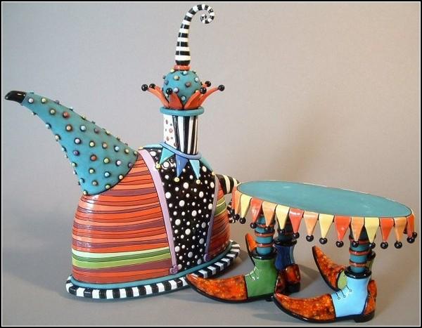 Развеселая керамическая арт-посуда Натальи Сотс