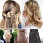 Прически с плетением на распущенных волосах