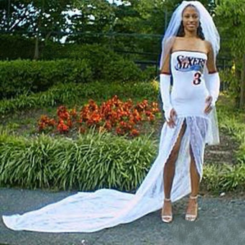 18. Когда муж ничего, но спорт все еще мир невесты, свадебное платье